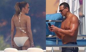 Jennifer Lopez nóng bỏng trong kỳ nghỉ với bạn trai