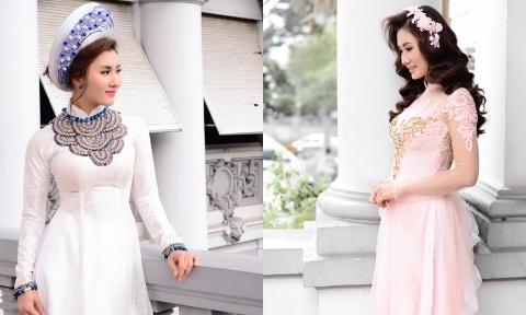 Diễn viên Nguyệt Ánh gợi ý 3 mẫu áo dài kết hợp phụ kiện đồng điệu