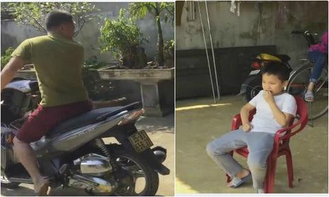Bố nhổ răng cho con bằng xe máy
