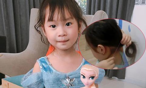 Con gái Lý Hải - Minh Hà gây 'sốt' với video dạy buộc tóc