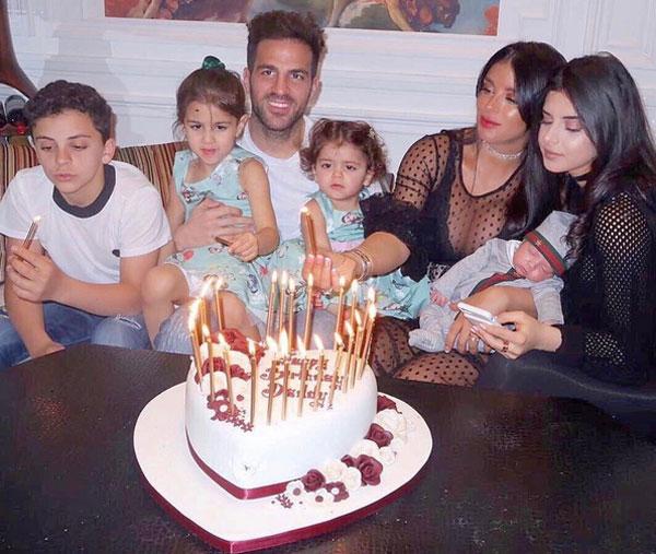 Fabregas đón sinh nhật tuổi 30 hồi tháng 4 bên Daniella Semana