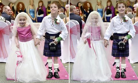 Đám cưới của bé gái 5 tuổi bị ung thư với cậu bạn thân