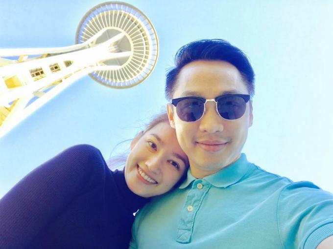 Vợ chồng Trúc Diễm - John Từ đang có kỳ nghỉ ngọt ngào ở Seattle, Washington (Mỹ).