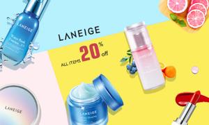 Laneige giảm 20% toàn bộ sản phẩm tại Yes24