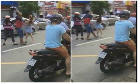 Nam thanh niên đập mũ bảo hiểm vào đầu cô gái sau va chạm giao thông