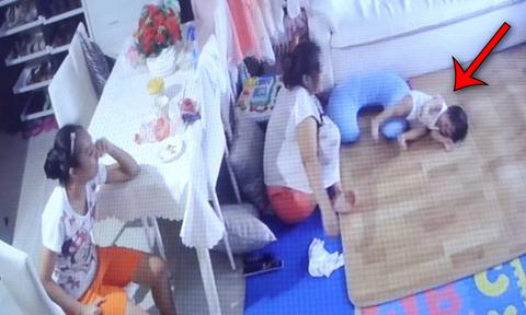Bé gái 1 tuổi bị hai bảo mẫu cấu véo, dọa nạt