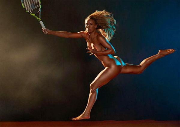 Người đẹp Caroline Wozniacki khỏa thân trên tạp chí ESPN.