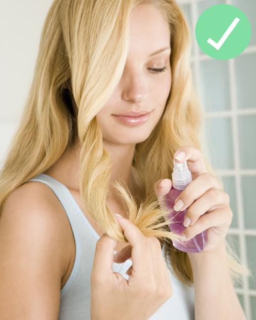 Dùng nước hoa cho tóc