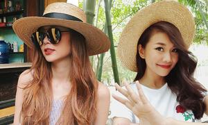 Sao Việt hòa cùng trào lưu sử dụng mũ nan, mũ cói