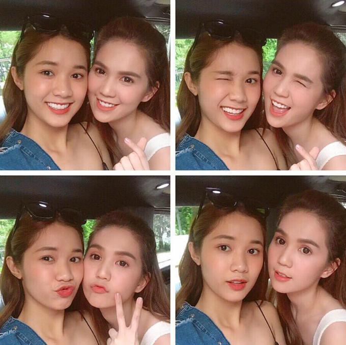 Ngọc Trinh chia sẻ nhiều khoảnh khắc tình cảm với cô em Quỳnh Hương.