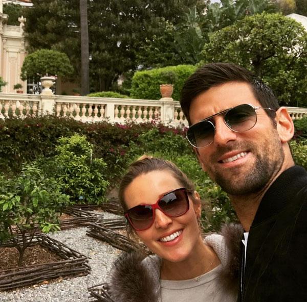 Vợ chồng Djokovic bị đồn trục trặc vì Nole ngoại tình.