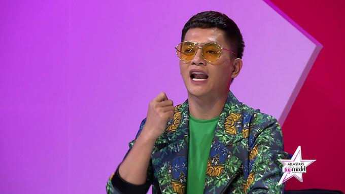 Giám khảo Nam Trung kiên nhẫn giải thích: Đối với một người cá tính  như anh, nếu như em không đủ tư cách ngồi ghế giám khảo thì đừng mong là bước chung  vào cửa với anh chứ chưa nói đến chuyện ngồi chung ghế giám khảo.