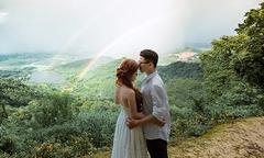 Ảnh cưới bên cầu vồng kép của cặp đôi Hải Phòng