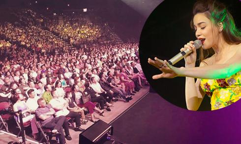 16.000 khán giả đi xem tour diễn của Hồ Ngọc Hà ở Mỹ