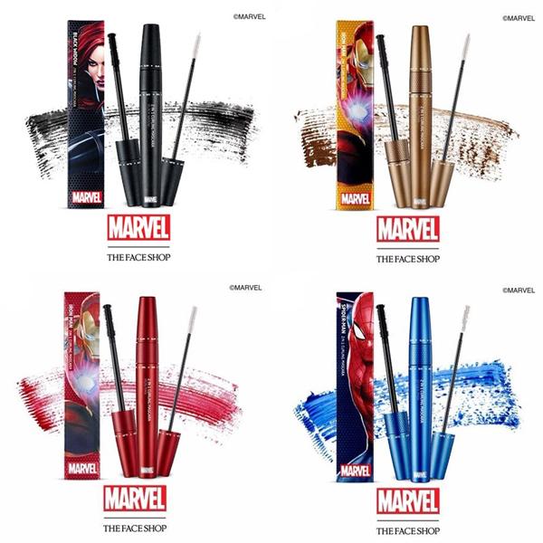 Mascara cũng mang 4 màu tương tự như chì kẻ mắt.