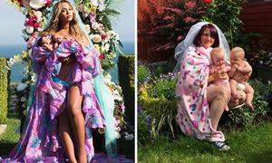Mẹ bỉm sữa chế ảnh bế con của Beyonce