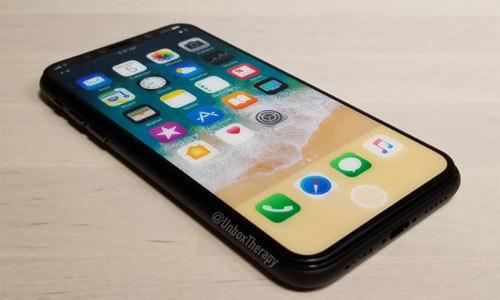 Rò rỉ ảnh iPhone 8 màn hình sáng