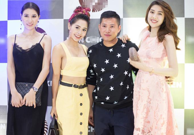 Cô có dịp hội ngộ với các đồng nghiệp như người mẫu Trang Trần, diễn viên Tường Vy.