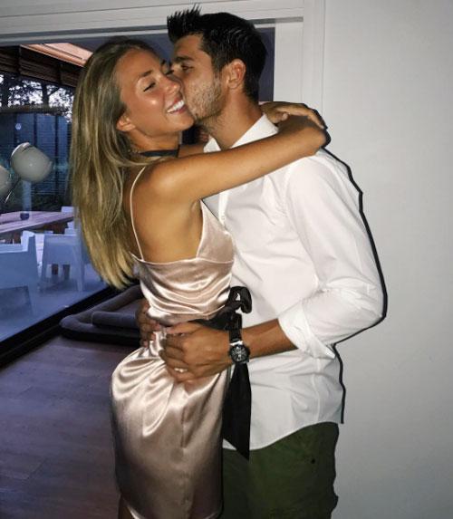 Suốt thời gian yêu nhau, Morata và Alice Campello vẫn khiến các fan phát ghen