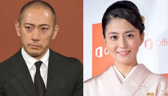 Ichikawa Ebizo gánh chịu nỗi đau vợ (ảnh phải) qua đời khi còn trẻ.