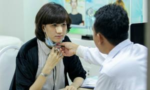 Hồng Xuân Next Top Model sửa mũi lần hai tại Charm Beauty