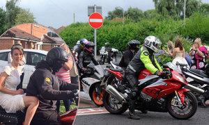 120 môtô hộ tống nữ sinh 16 tuổi đi dự tiệc