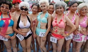 Cuộc thi bikini của các bà ngoại ở Trung Quốc
