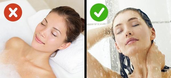 6. Tắm nước nóng lạnh luân phiên