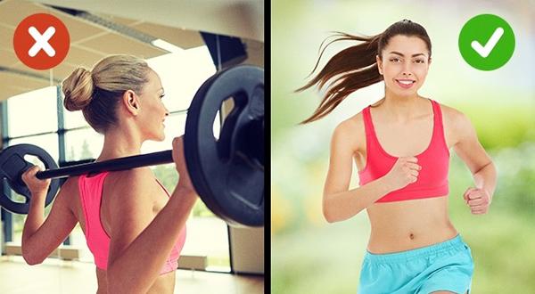 3. Tích cực tập luyện Các bài tập cardio có lợi cho làn da hơn tập tạ.