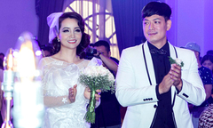 Mai Thu Huyền diện váy cưới, sánh đôi Bình Minh trong sự kiện