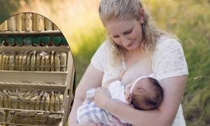 Bà mẹ quyên góp 5.000 túi sữa mẹ cho các bố đồng tính nuôi con