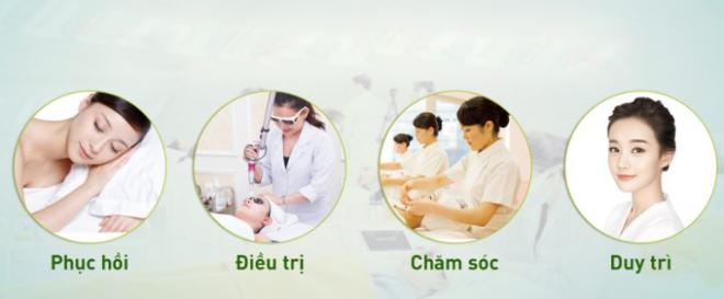 Quy trình trị nám gồm bốn bước.