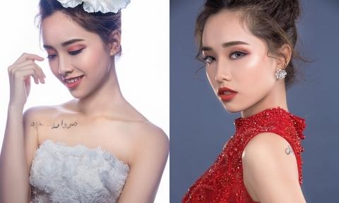 Cô dâu đẹp lạ với style trang điểm 'mắt nâu, môi trầm'