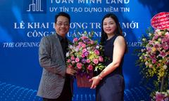 'Ông trùm' Phan Quân dự lễ khai trương trụ sở mới của Tuấn Minh Land