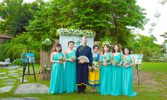 Đám cưới xanh mát dịu của cô dâu Việt và chàng rể Thuỵ Điển