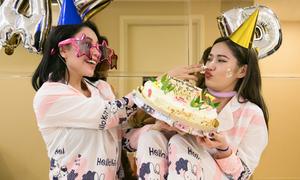 Milan Phạm cùng Trà Ngọc Hằng mở tiệc ngủ, mừng tuổi 27