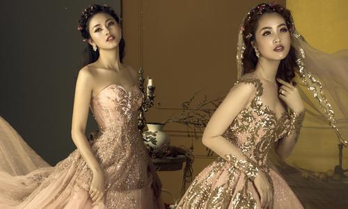Thụy Vân, Thanh Tú đọ sắc khi diện váy cưới lộng lẫy