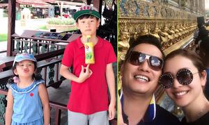 Vợ chồng Jennifer Phạm đưa cả gia đình đi du lịch nhân dịp Bảo Nam về nước
