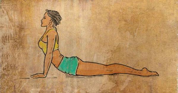 Tập tư thế yoga rắn hổ mang