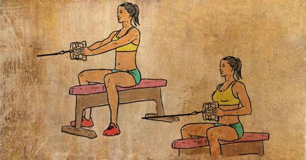 Tập với máy tạ kéo trọng lượng từ 3 - 7 kg tùy khả năng. Thực hiện 20 lần/hiệp.