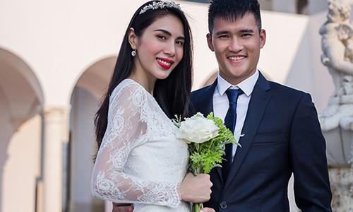 Công Vinh thừa nhận may mắn vì cưới được Thủy Tiên