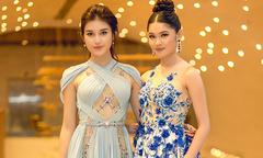 Hai người đẹp đại diện Việt Nam thi Hoa hậu quốc tế đọ sắc ở sự kiện