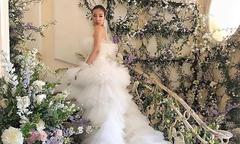 Váy cưới bồng bềnh như mây của blogger nổi tiếng Hong Kong