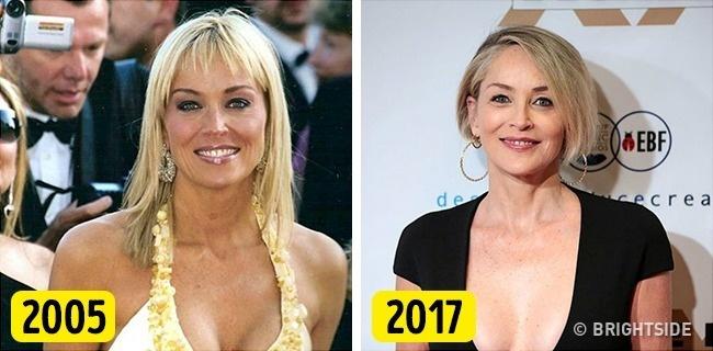 Sharon Stone dường như còn trẻ và đẹp hơn so với hơn chục năm trước. Người đẹp 59 tuổi không hề đụng dao kéo để duy trì tuổi xuân mà luôn chăm chỉ tập luyện, chăm sóc da và