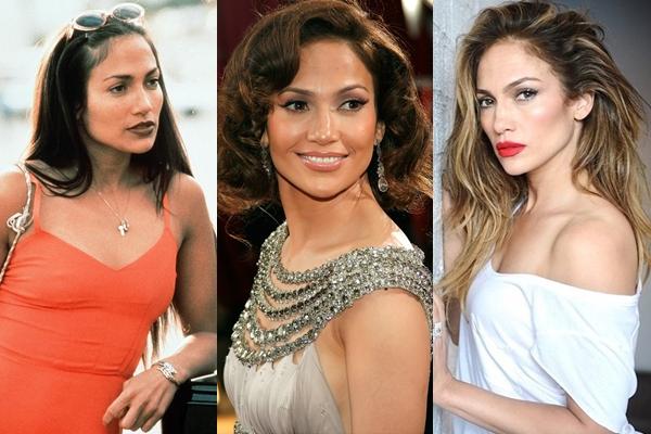 Jennifer Lopez không già đi chút nào sau 20 năm. Ảnh từ trái qua phải: Jennifer Lopez năm 1997, 2007 và 2017.