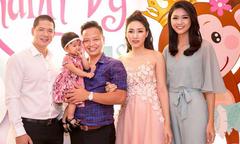 Vợ chồng Á hậu Ngô Trà My mở tiệc sinh nhật cho con gái tại khách sạn 5 sao
