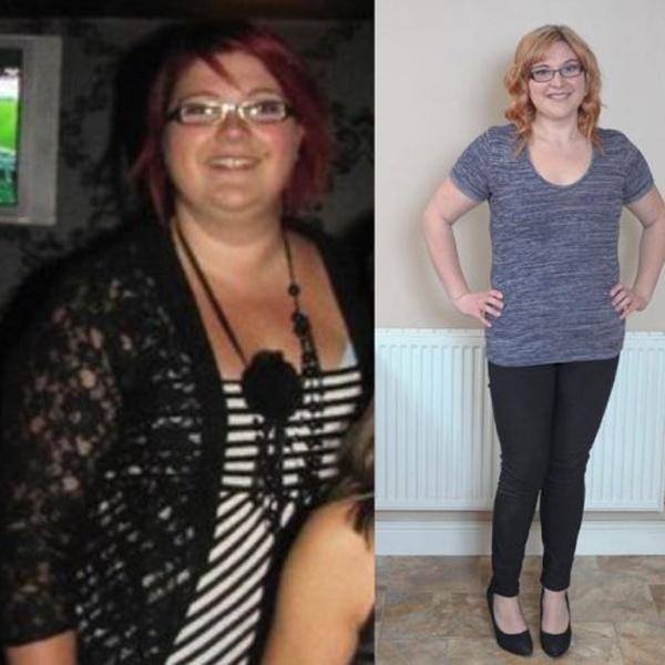 Christine Roberts, 25 tuổi, sinh sống tại Telford, Anh, giảm 50 kg nhờ phương pháp Dukan.