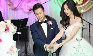 Đám cưới ấm cúng của siêu mẫu Huỳnh Nu và chồng doanh nhân ở Mỹ
