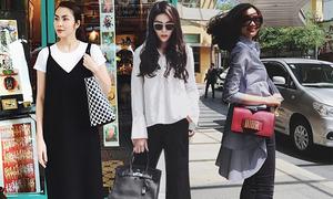 Sao Việt mix sắc đen cuốn hút cho street style