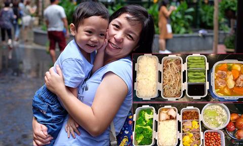 Mẹ trẻ bất ngờ vì hộp cơm trưa nấu cho chồng gây 'sốt' mạng xã hội
